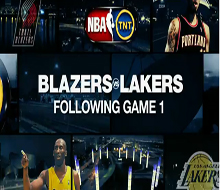 Blazers Lakers in Game Promo